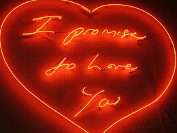 Tracy Emin I promise to love you