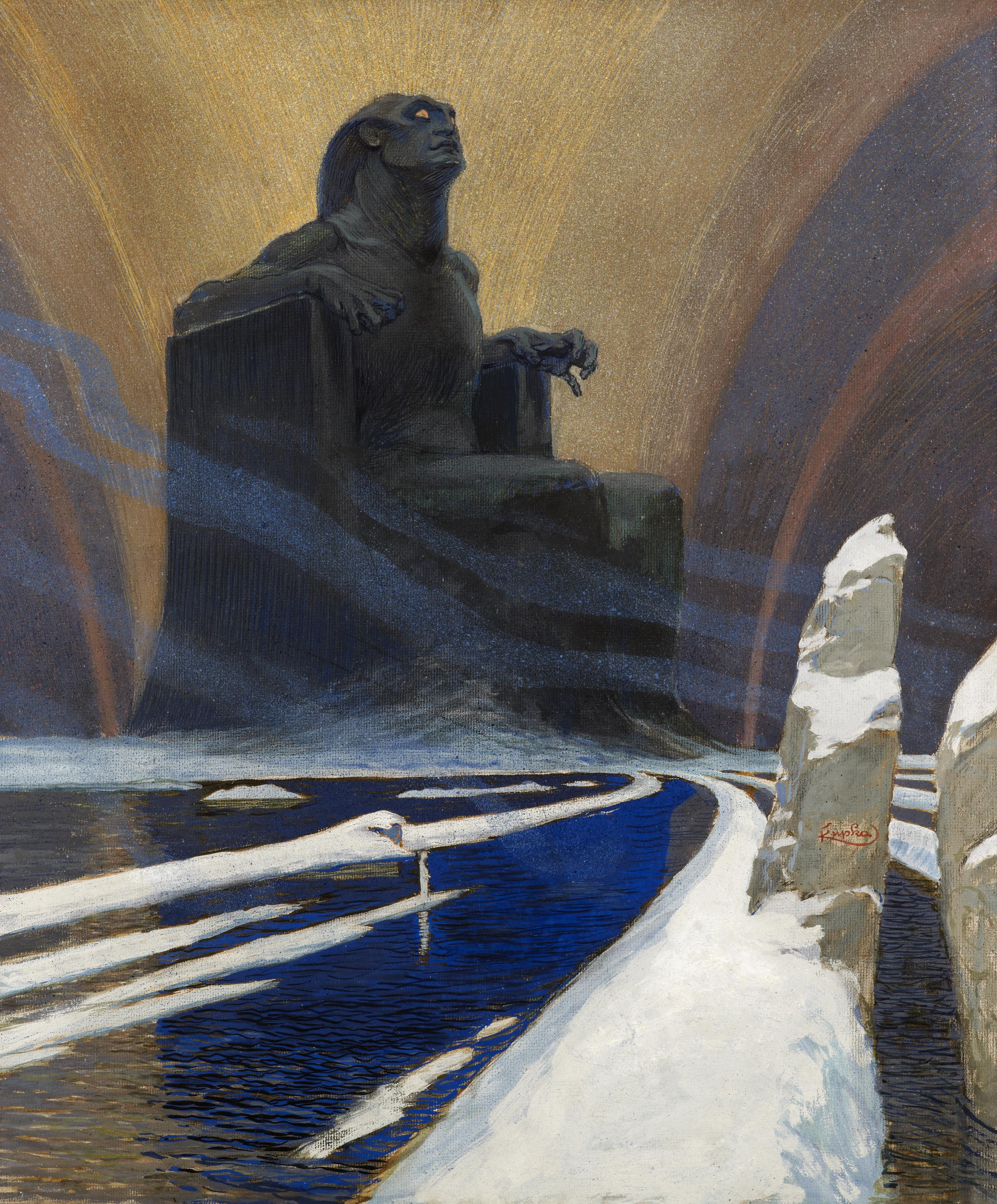 Frantisek Kupka (1871-1957), Black Idol or Defiance