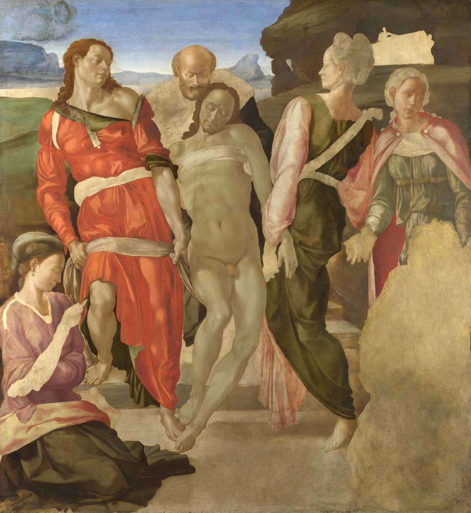 'Entombment', Michelangelo