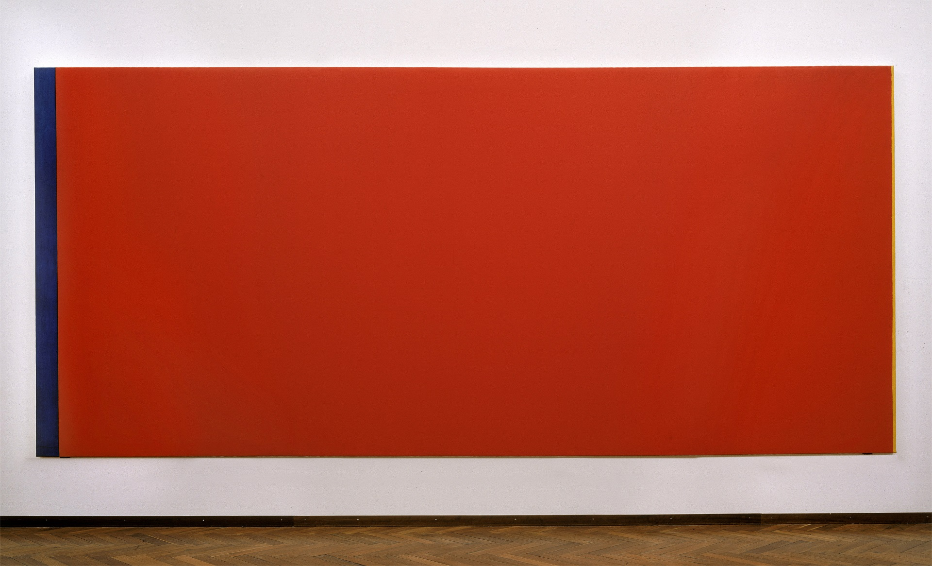 Barnett Newman, Who's Afraid of Red, Yellow and Blue III (1967-68), collectie Stedelijk Museum Amsterdam
