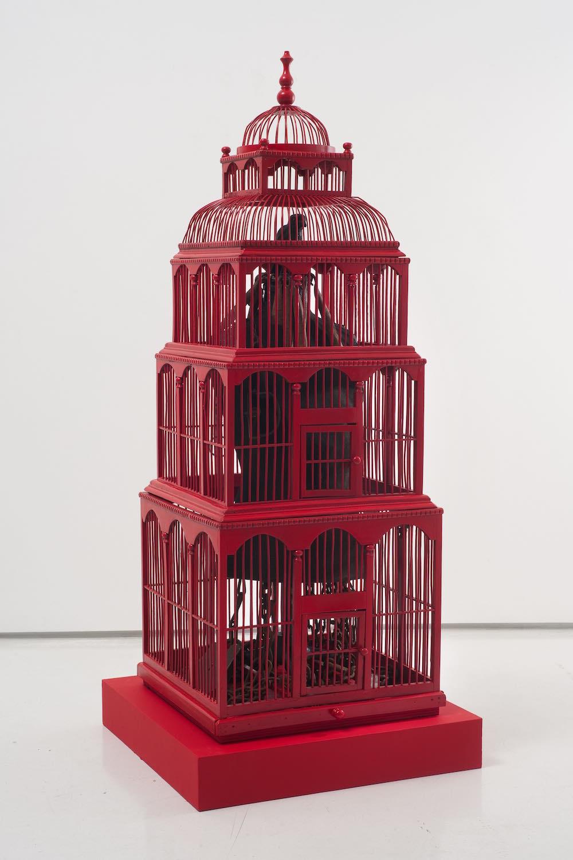 Betye Saar, Crimson Captive, 2011