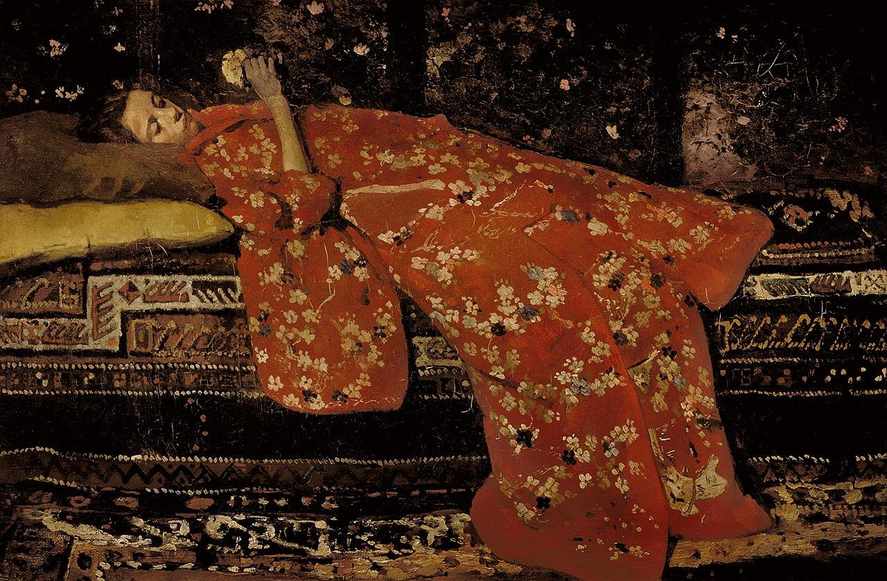 G.H. Breitner: De rode kimono, 1893. Collectie Stedelijk Museum