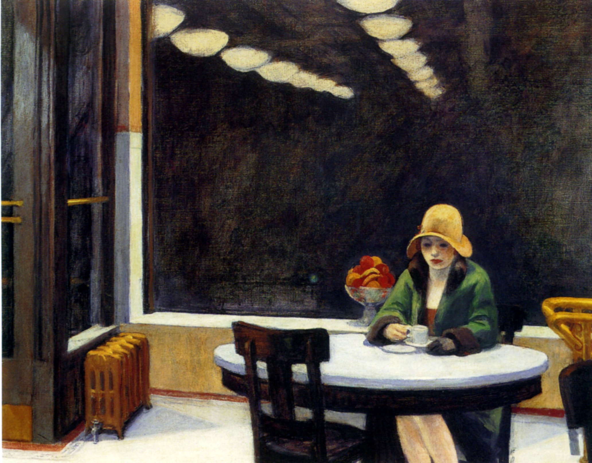 Edward Hopper, Automat (1927). Collectie Des Moines Art Center