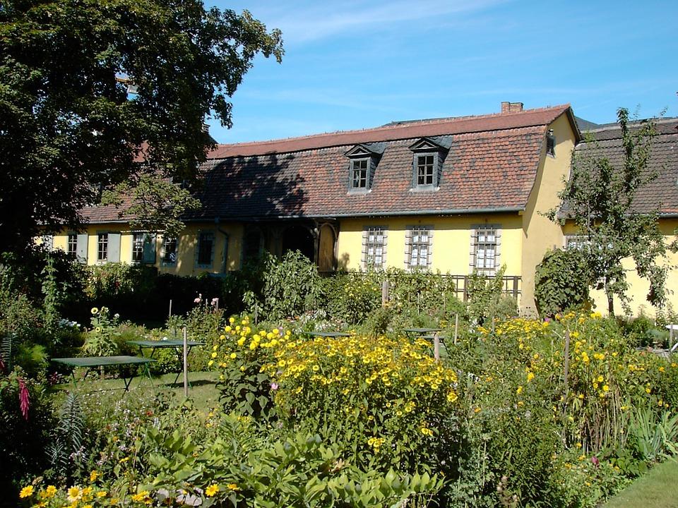 De tuin van Goethe.