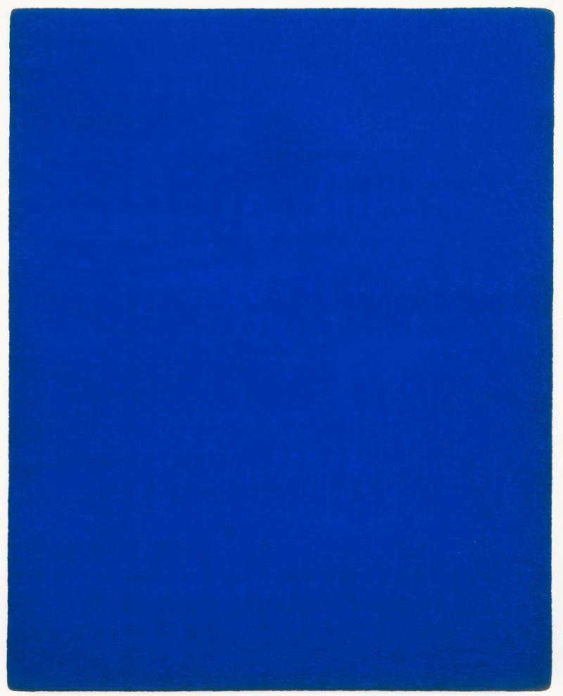 Yves Klein, Monochrome bleu, sans titre (IKB 63), 1959. Collectie Van Abbemuseum, Eindhoven.