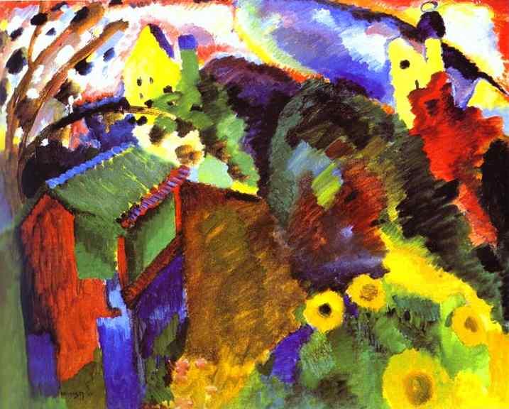 'Murnau Garden', Kandinsky