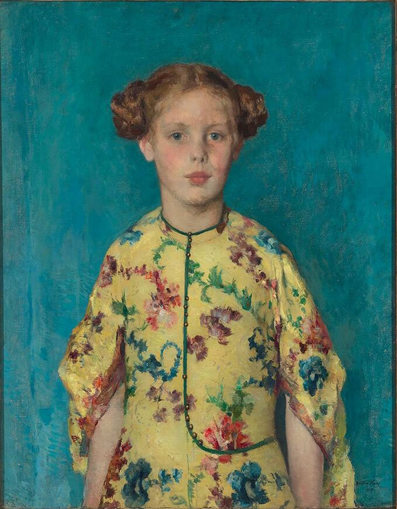 Walter Vaes, Kinderportret van Jkvr. Louise-Félicité de Stuers, 1919