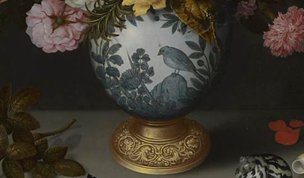 Detail Ambrosius Bosschaert the Elder, A Still Life of Flowers in a Wan-Li Vase (1609–10)