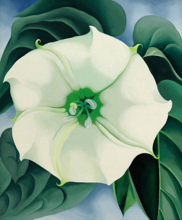 Georgia O'Keeffe Jimson Weed/ White Flower No. 1 1932 Crystal Bridges Museum of American Art, Arkansas USA © 2016 Georgia O'Keeffe Museum/DACS, London. Photograph by Edward C. Robison III