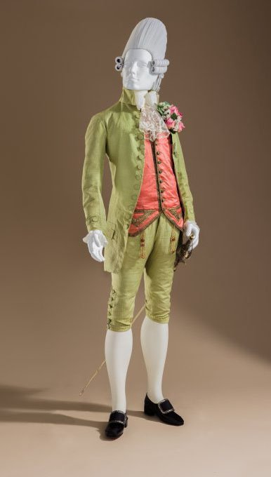 Suit Italy, c. 1770 Costume Council Fund Waistcoat France, c. 1770 Purchased with funds provided by Suzanne A. Saperstein and Michael and Ellen Michelson, with additional funding from the Costume Council, the Edgerton Foundation, Gail and Gerald Oppenheimer, Maureen H. Shapiro, Grace Tsao, and Lenore and Richard Wayne Sword with Sheath France, late 18th century Gift of Mary H. and Martin B. Retting
