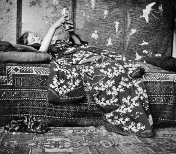 George Hendrik Breitner, Meisje in kimono (Geesje Kwak), 1893, foto collectie RKD