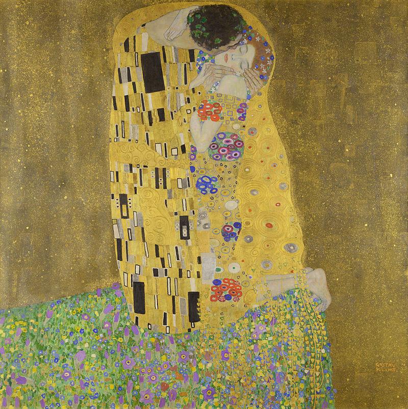 Gustav Klimt, De kus, 1907-1908