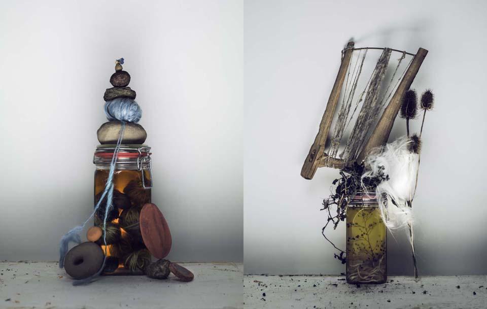Werkmaterialen Claudy Jongstra Foto: Marcel van der Vlugt