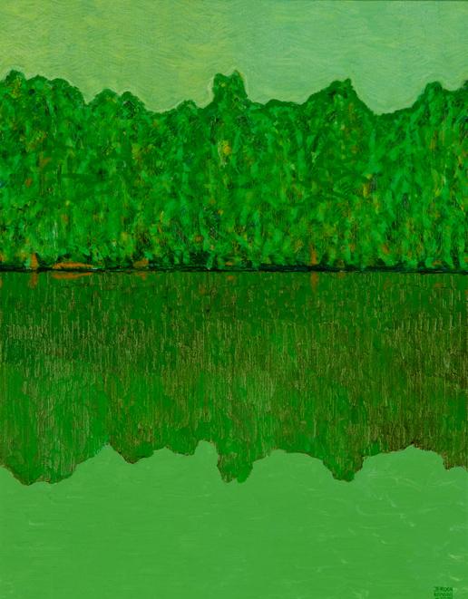 Jeroen Krabbé, Suriname River at Danpaati II, 2006, olieverf op doek