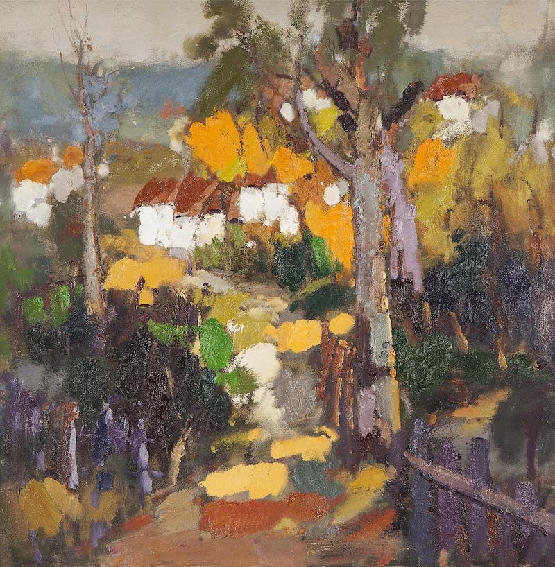 Zheng Yong Gang, Landscape, olieverf op doek
