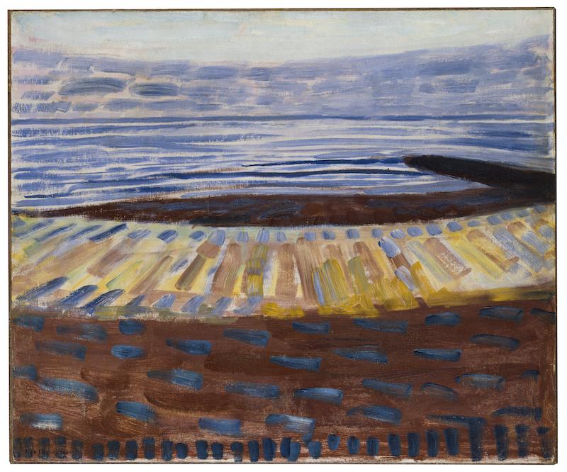 Piet Mondriaan, Zee na Zonsondergang, 1909. Collectie Gemeentemuseum Den Haag