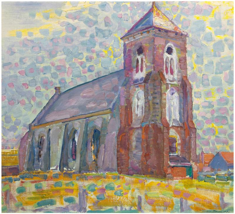 Piet Mondriaan, Kerk te Zoutelande, 1909. Privé collectie
