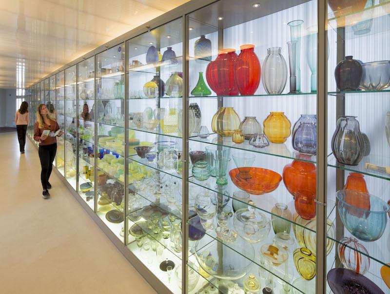 Nationaal Glasmuseum. Transparante Depot. Foto: Ben Deiman