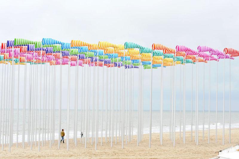 Daniel Buren, Le vent souffle où il veut, 2009