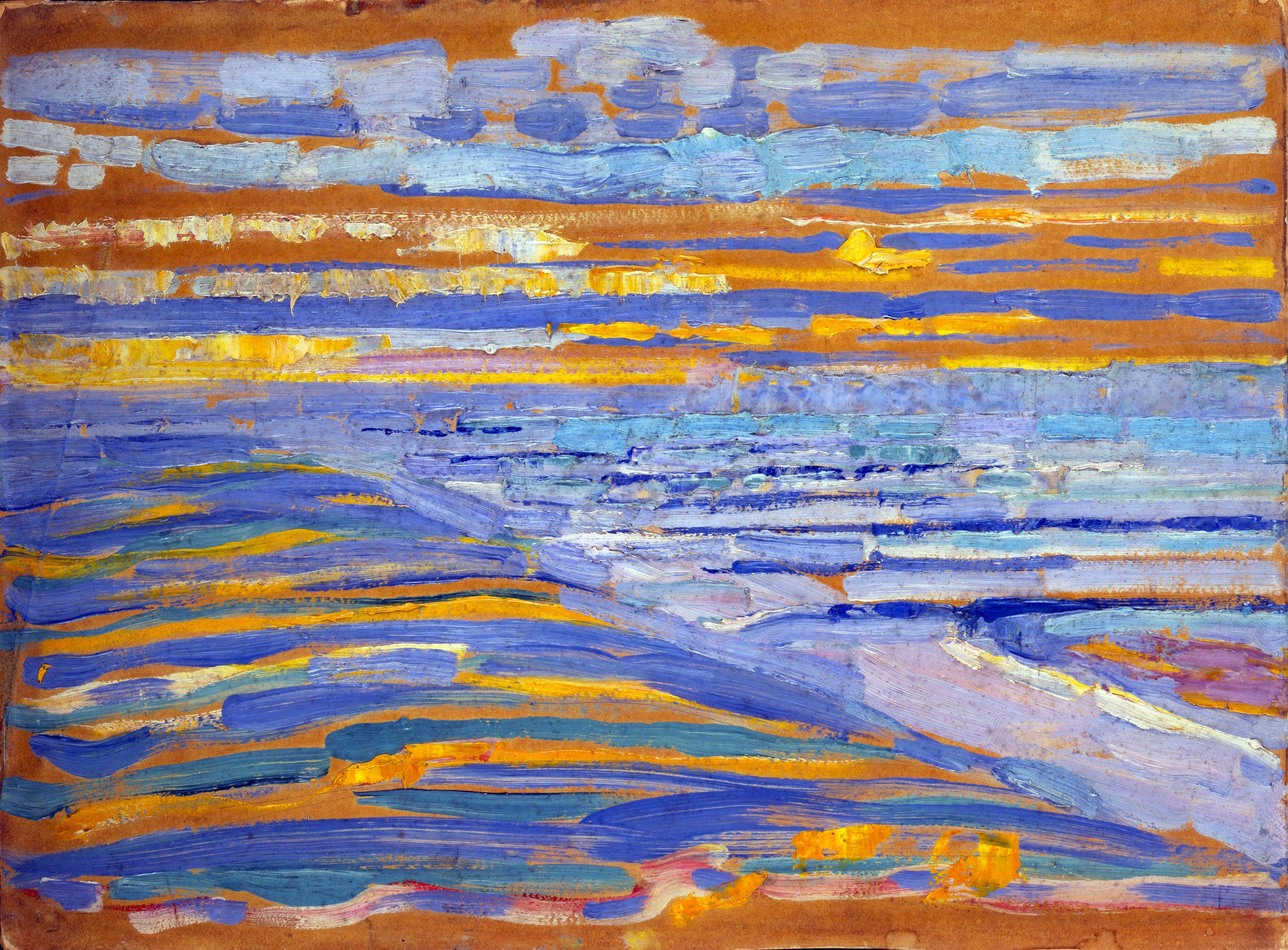 Piet Mondriaan, View from the Dunes with Beach and Piers, 1909