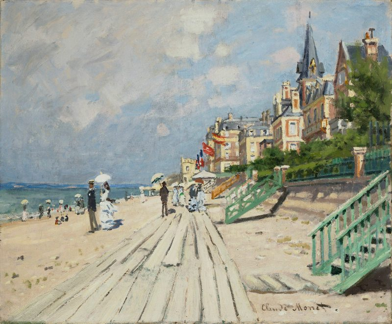 Claude Monet, The Beach at Trouville, 1870