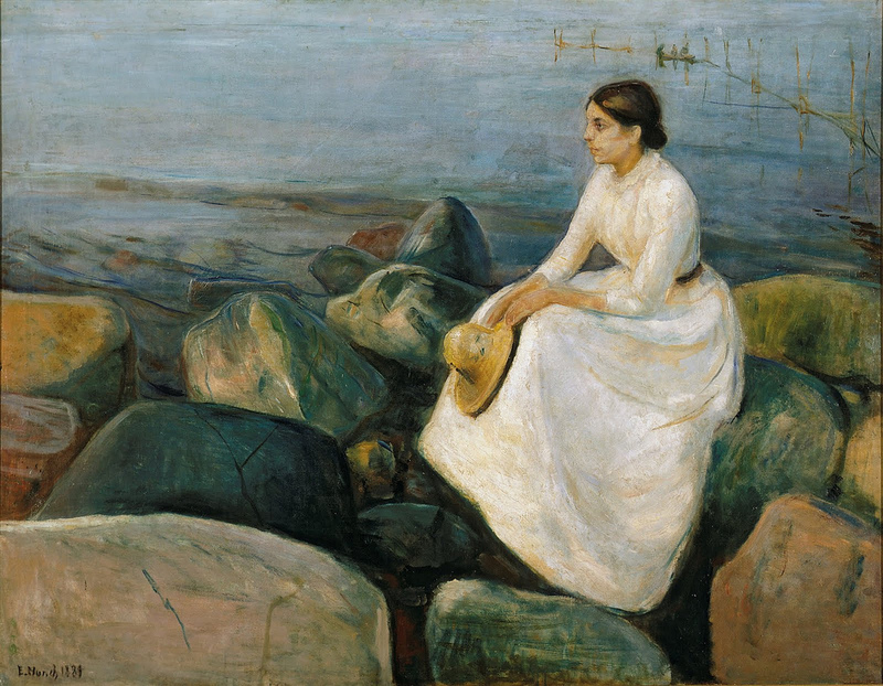 Edvard Munch, Summernacht, Inger at the Beach, 1889