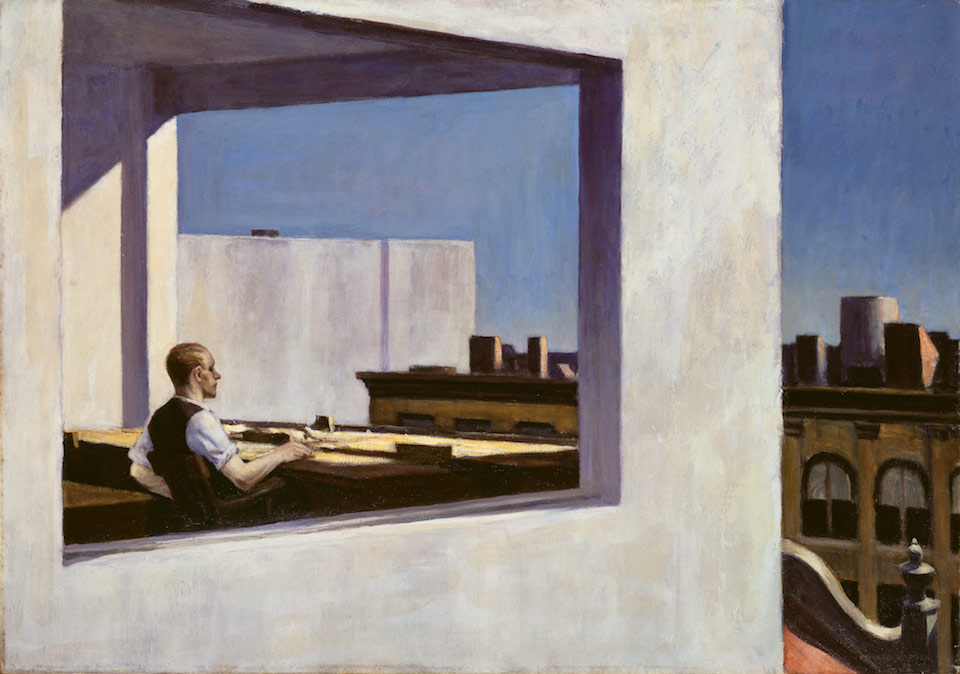 Edward Hopper, Office in a small city (1953) The Metropolitan Museum, Verenigde Staten