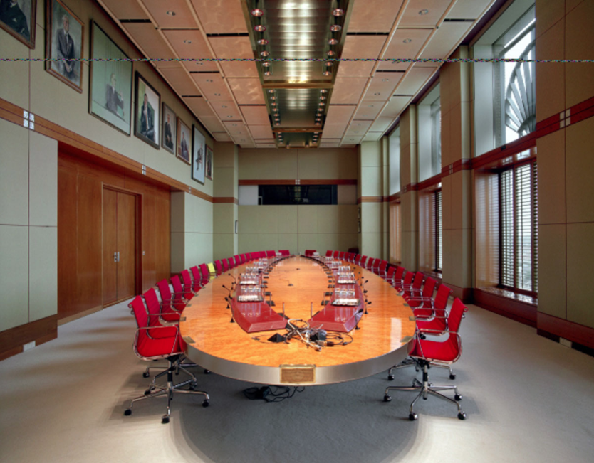 The meeting table of the Board of Directors of Royal Dutch Shell, 2010. Credit: Huis Marseille