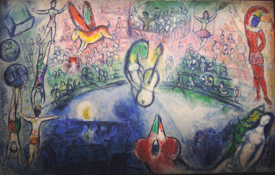 Marc Chagall, Commedia dell'Arte, 1958 Huile sur toile Adolf und Luisa Haeuser Stiftung, Francfort-sur-Main
