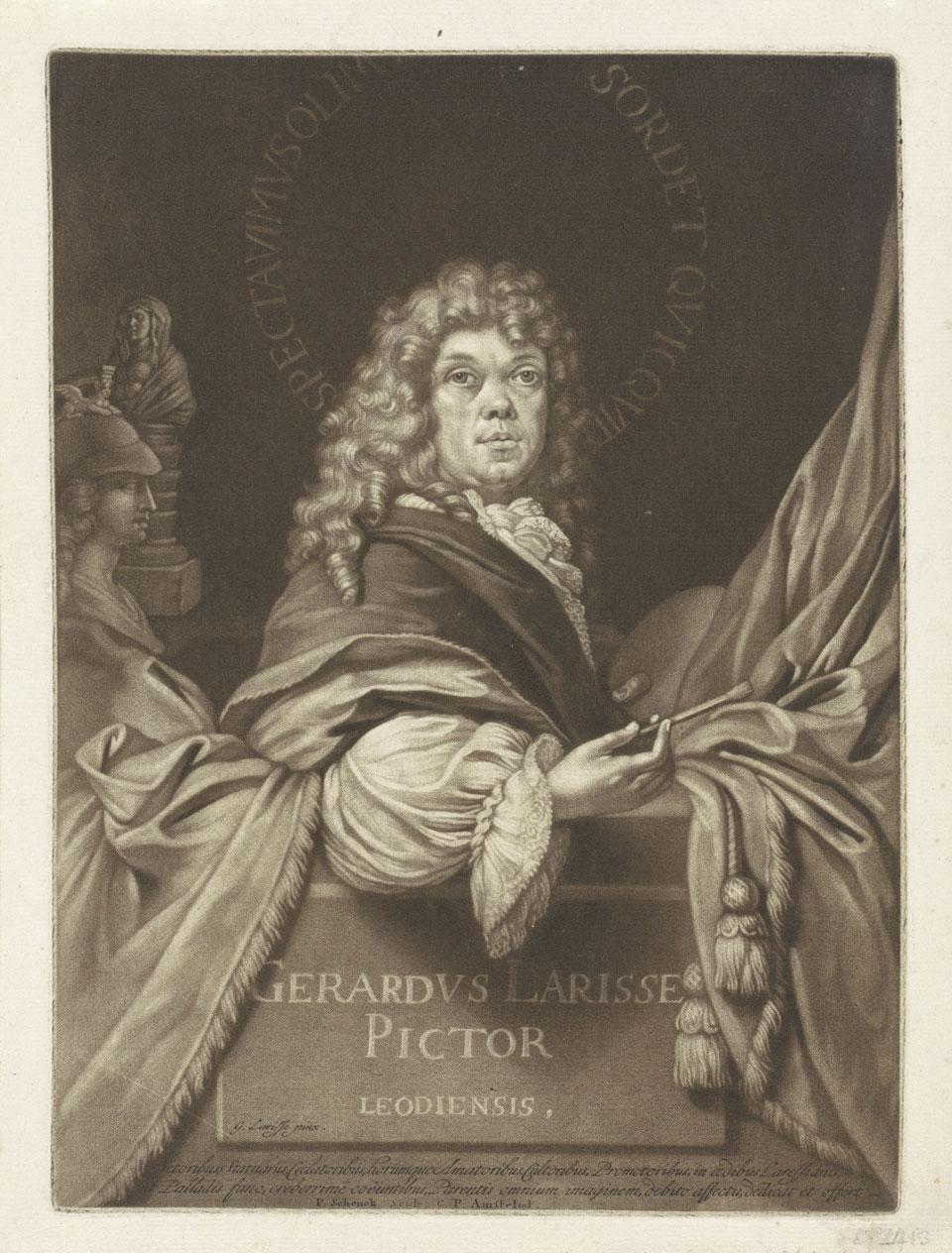 Gerard de Lairesse, Zelfportret van Gerard de Lairesse als jonge kunstenaar (1650-1711)