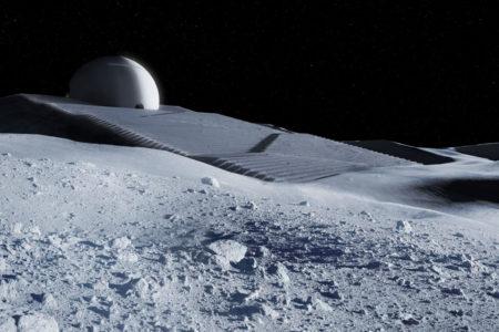 Een tempel op de maan