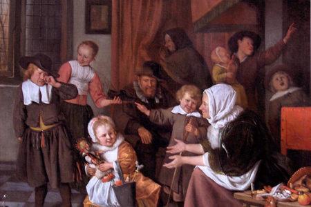 Pakjesavond met Jan Steen (en 5 andere schilders)