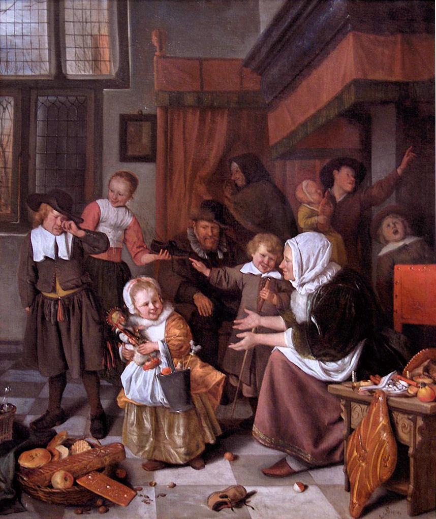 Het Sint-Nicolaasfeest, Jan Steen, ca. 1663-1665, Rijksmuseum, Amsterdam