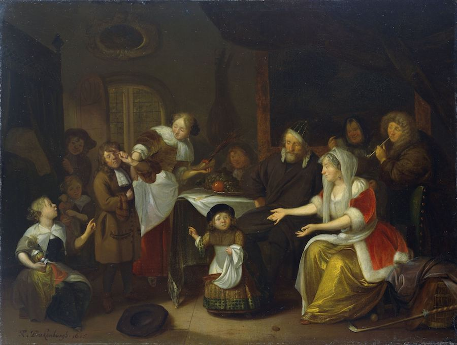 Het Sint Nicolaasfeest, Richard Brakenburg, 1685, Rijksmuseum Amsterdam