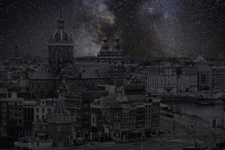 Sterrenhemels boven Amsterdam