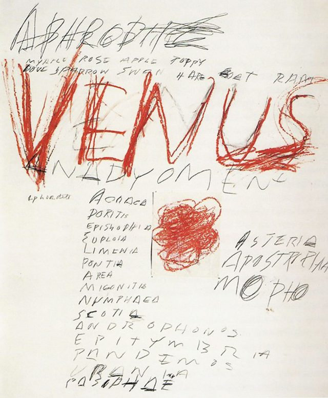 Cy Twombly, Venus, Rome, 1975, © Cy Twombly Foundation